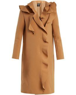 Ruffled Crepe Coat