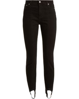 High-rise Stirrup-hem Jeans