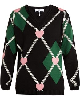 Argyle Heart Sweater