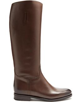 Ofelia Leather Knee-high Boots