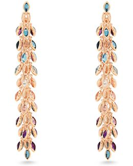 Reversible Multi-stone & Pink-gold Earrings