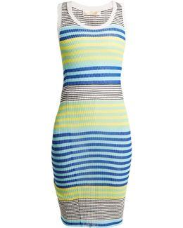 Scoop-neck Sleeveless Ribbed-knit Dress