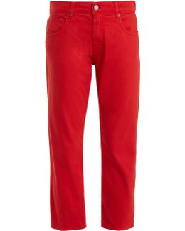 Mid-rise Straight-leg Cropped Jeans