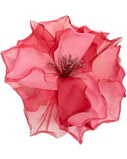 Country Flower Silk-organza Brooch