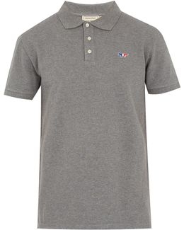 Fox-applique Cotton-piqué Polo Shirt