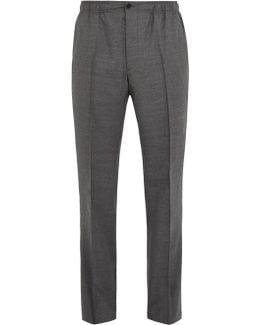 Straight-leg Flannel-wool Trousers