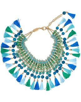 Geranio Multi-stone And Tassel Necklace