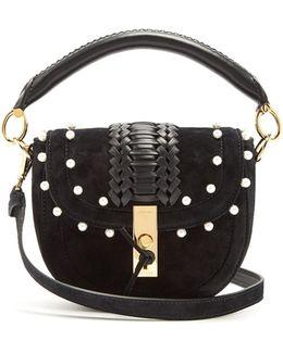 Ghianda Mini Braided-leather Suede Shoulder Bag