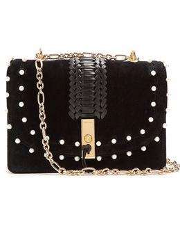 Ghianda Braided-leather Suede Shoulder Bag