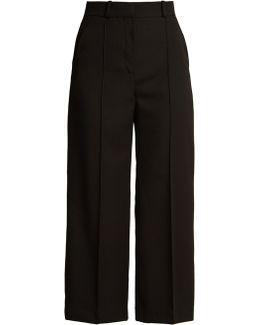 Warwick Wide-leg Cropped Wool Trousers