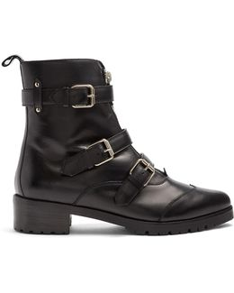 Alex Multi-strap Leather Ankle Boots