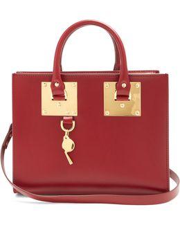 Medium Albion Leather Box Bag