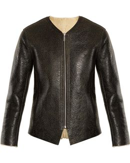 Izy Reversible Leather And Shearling Jacket