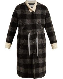 Glitz Tie-waist Checked Coat