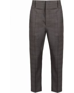 Noah Tapered-leg Checked Wool Trousers