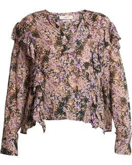 Jelby Floral-print Chiffon Blouse