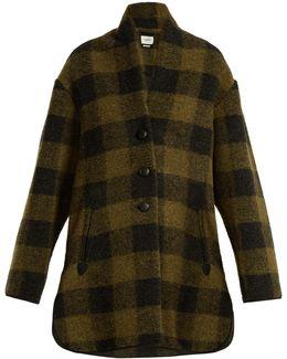 Gino Checked Wool-blend Coat