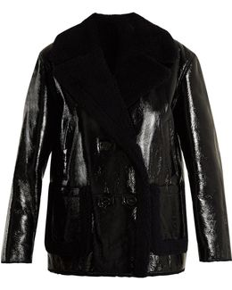 Double-breasted Shearling Coat