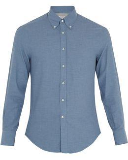 Button-down Collar Single-cuff Cotton Shirt