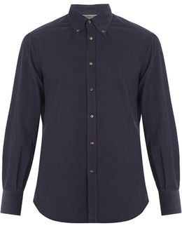 Single-cuff Cotton-corduroy Shirt
