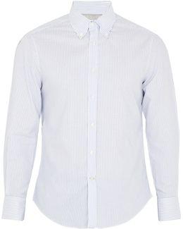 Striped Single-cuff Oxford-cotton Shirt