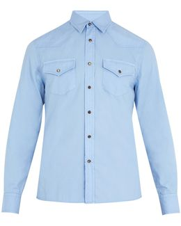 Slim-fit Patch-pocket Cotton Shirt
