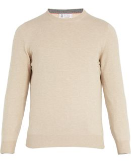 Crew-neck Wool-bend Knit Sweater