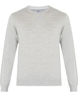 Crew-neck Silk And Cotton-blend Sweater