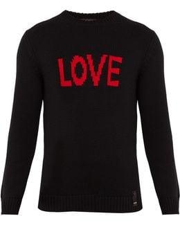 Love-jacquard Wool Sweater
