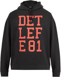 Detlefe 81-print Hooded Cotton Sweatshirt