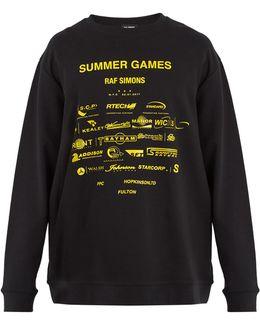 Summer Games-print Cotton Sweatshirt