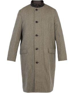 Reversible Contrast-collar Wool Coat