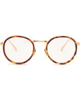 Tortoiseshell Round-frame Glasses