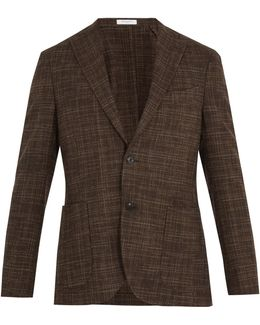 Checked Wool And Cotton-blend Blazer