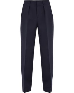 Mid-rise Wide-leg Trousers