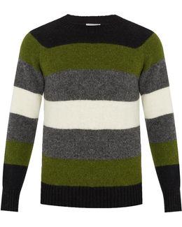 Striped Alpaca-blend Sweater