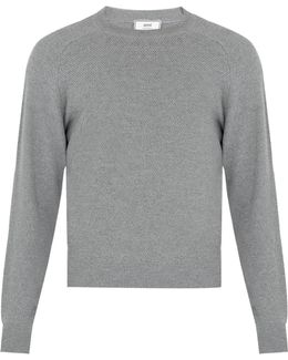 Crew-neck Textured-wool Sweater