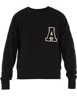 A-appliqué Wool Sweater