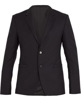 Single-breasted Wool And Mohair-blend Blazer