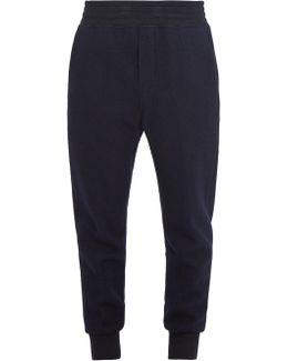 Tapered Wool-felt Track Pants