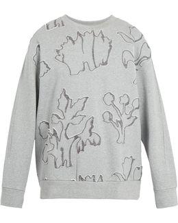 Floral-appliqué Cotton-jersey Sweatshirt