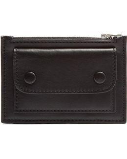 Flap-front Leather Cardholder
