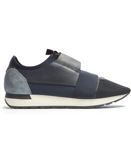 Race Runner Panelled Low-top Trainers