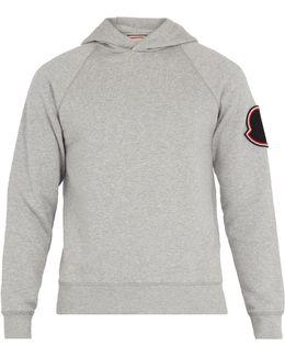 Badge-appliqué Hooded Cotton Sweatshirt