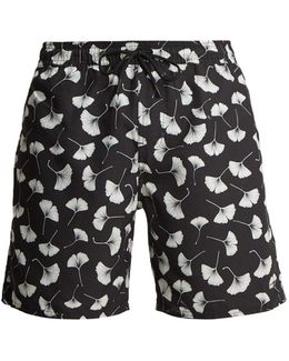 Timothy Ginkgo-print Swim Shorts