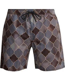 Timothy Rocco-print Swim Shorts
