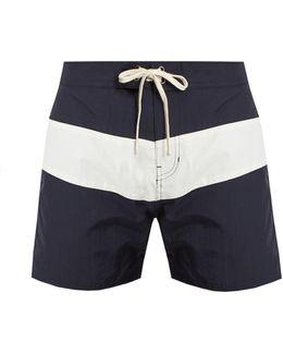 Grant Contrast-panel Swim Shorts