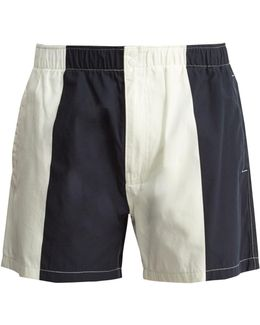 Trent Contrast-panel Swim Shorts