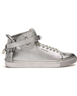 100mm Metallic High-top Trainers