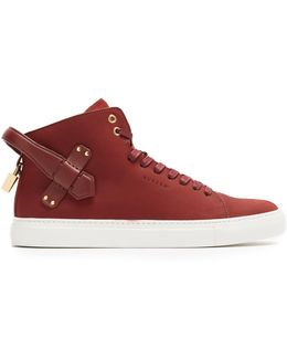 100mm Clean Nubuck High-top Trainers